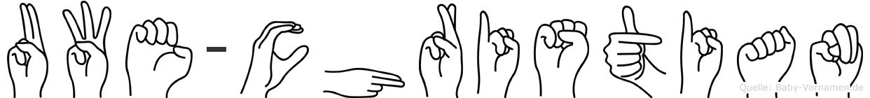 Uwe-Christian im Fingeralphabet der Deutschen Gebärdensprache