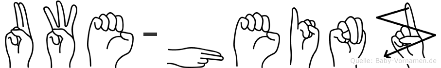 Uwe-Heinz im Fingeralphabet der Deutschen Gebärdensprache