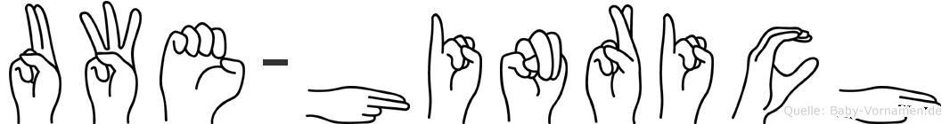 Uwe-Hinrich im Fingeralphabet der Deutschen Gebärdensprache