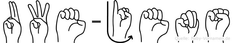 Uwe-Jens im Fingeralphabet der Deutschen Gebärdensprache