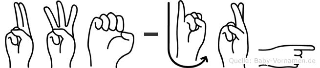 Uwe-Jörg im Fingeralphabet der Deutschen Gebärdensprache