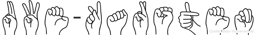 Uwe-Karsten im Fingeralphabet der Deutschen Gebärdensprache