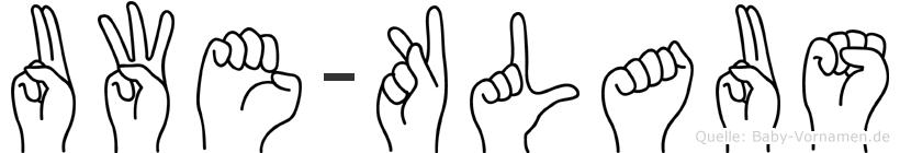 Uwe-Klaus im Fingeralphabet der Deutschen Gebärdensprache