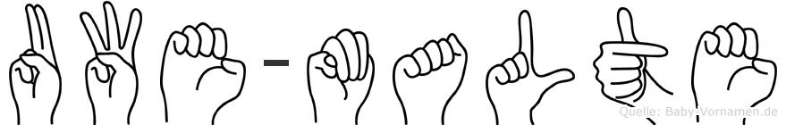 Uwe-Malte im Fingeralphabet der Deutschen Gebärdensprache