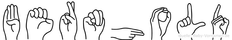 Bernhold in Fingersprache für Gehörlose