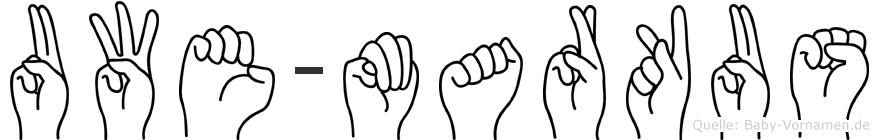 Uwe-Markus im Fingeralphabet der Deutschen Gebärdensprache