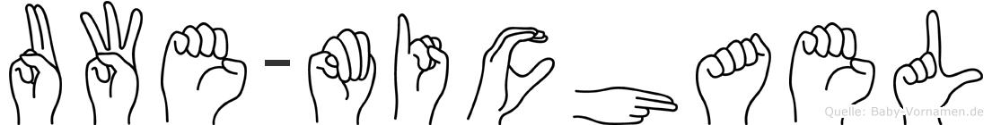 Uwe-Michael im Fingeralphabet der Deutschen Gebärdensprache
