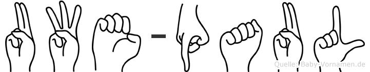 Uwe-Paul im Fingeralphabet der Deutschen Gebärdensprache
