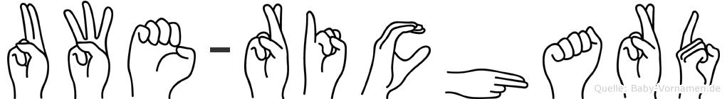Uwe-Richard im Fingeralphabet der Deutschen Gebärdensprache