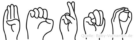 Berno in Fingersprache für Gehörlose