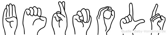 Bernold im Fingeralphabet der Deutschen Gebärdensprache