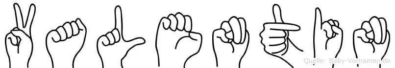 Valentin in Fingersprache für Gehörlose