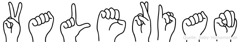 Valerian in Fingersprache für Gehörlose