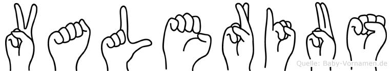 Valerius in Fingersprache für Gehörlose