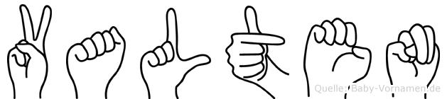 Valten in Fingersprache für Gehörlose