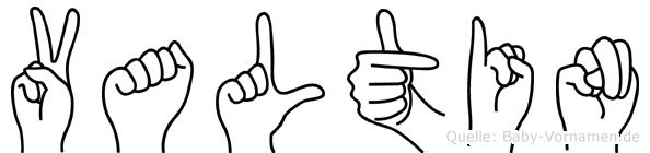Valtin im Fingeralphabet der Deutschen Gebärdensprache