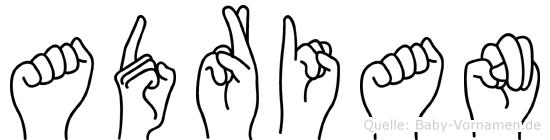 Adrian in Fingersprache für Gehörlose