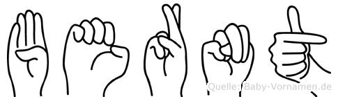 Bernt in Fingersprache für Gehörlose