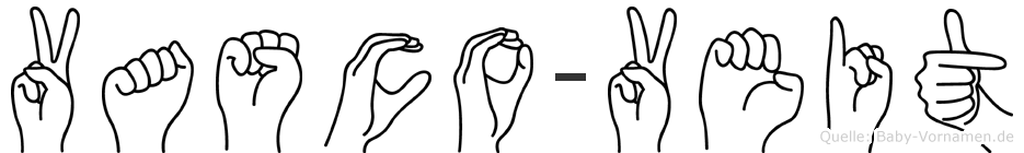 Vasco-Veit im Fingeralphabet der Deutschen Gebärdensprache