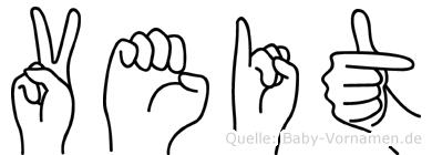Veit in Fingersprache für Gehörlose