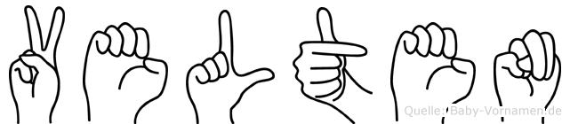 Velten im Fingeralphabet der Deutschen Gebärdensprache