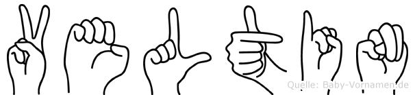 Veltin in Fingersprache für Gehörlose