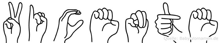 Vicente in Fingersprache für Gehörlose