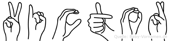 Victor in Fingersprache für Gehörlose