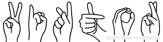 Viktor in Fingersprache für Gehörlose