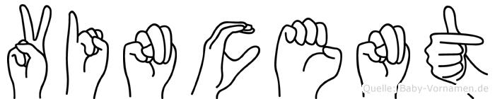 Vincent in Fingersprache für Gehörlose