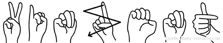 Vinzent in Fingersprache für Gehörlose
