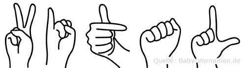Vital in Fingersprache für Gehörlose