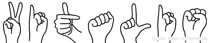 Vitalis im Fingeralphabet der Deutschen Gebärdensprache