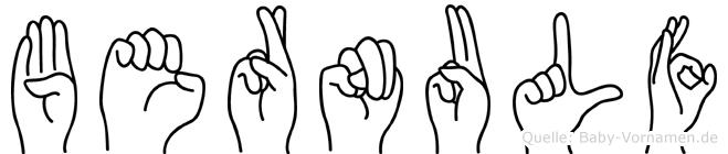 Bernulf in Fingersprache für Gehörlose