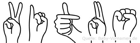 Vitus in Fingersprache für Gehörlose