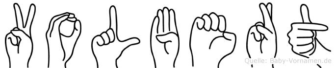 Volbert in Fingersprache für Gehörlose