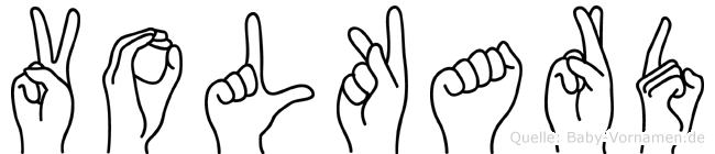 Volkard in Fingersprache für Gehörlose