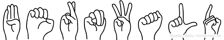Bernwald in Fingersprache für Gehörlose