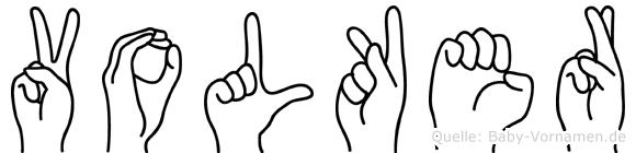 Volker in Fingersprache für Gehörlose