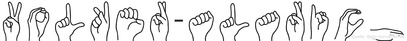 Volker-Alarich im Fingeralphabet der Deutschen Gebärdensprache