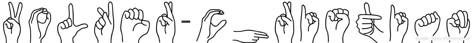 Volker-Christian im Fingeralphabet der Deutschen Gebärdensprache