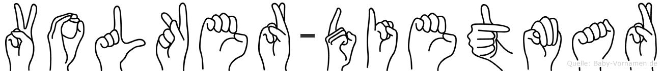 Volker-Dietmar im Fingeralphabet der Deutschen Gebärdensprache