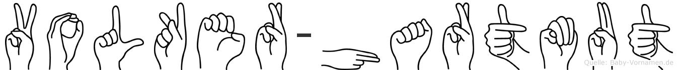 Volker-Hartmut im Fingeralphabet der Deutschen Gebärdensprache