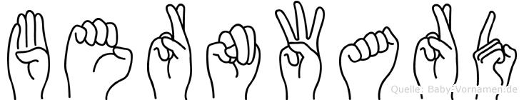 Bernward in Fingersprache für Gehörlose