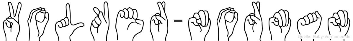 Volker-Norman im Fingeralphabet der Deutschen Gebärdensprache
