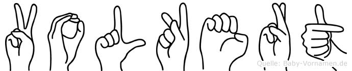 Volkert in Fingersprache für Gehörlose