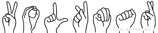 Volkmar in Fingersprache für Gehörlose