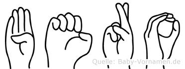 Bero in Fingersprache für Gehörlose