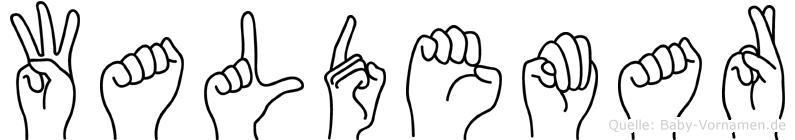 Waldemar im Fingeralphabet der Deutschen Gebärdensprache