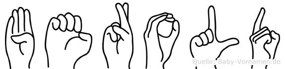Berold in Fingersprache für Gehörlose